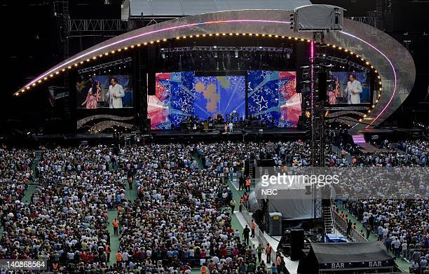 Singers Joss Stone and Tom Jones perform on stage at the Concert for Diana held at Wembley Stadium Wembley London England on July 1 2007 Photo by...