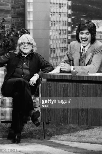 Singer/songwriter Paul Williams during an interview with guest host Freddie Prinze on November 151976