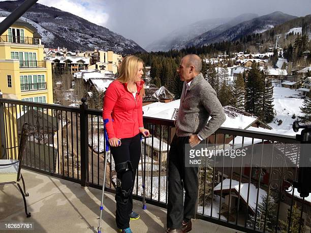 Skier Lindsey Vonn during an interview with Matt Lauer