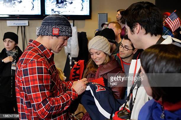Snowboard Cross Gold Medalist Seth Wescott signs autographs