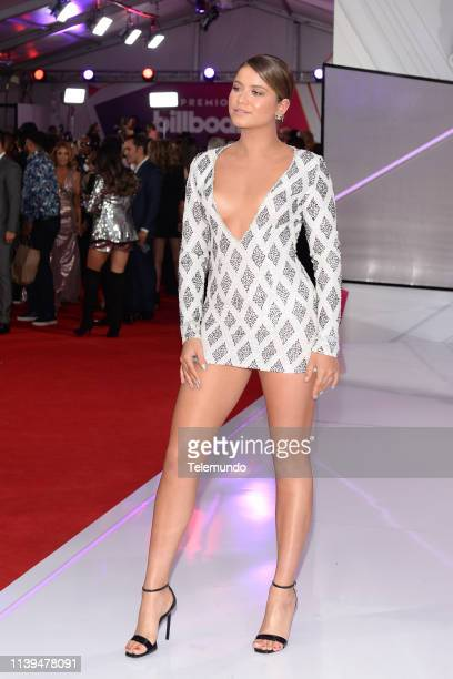 Pictured: Sofia Reyes on the red carpet at the Mandalay Bay Resort and Casino in Las Vegas, NV on April 25, 2019 --