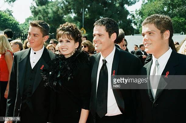 Son Michael Blosil Marie Osmond Donny Osmond son Brandon Osmond arrive at the 50th Annual Primetime Emmy Awards held at the Shrine Auditorium in Los...