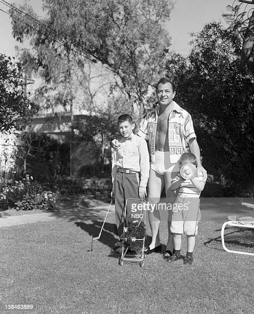 Son Nico Nicky Charisse actor/singer Tony Martin son Tony Martin Jr at home in 1954