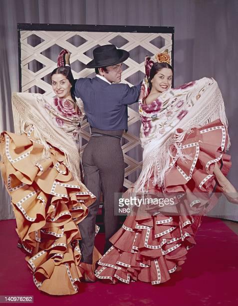 Spanish dancer Roberto Iglesias and Galan twins Esperanza and Rosario Photo by NBCU Photo Bank