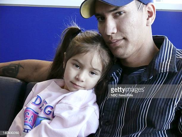 Spec Joshua Stein with daughter Rachel at the Brooke Army Medical Center on January 28 2007 Both of his legs were severed when the Bradley fighting...