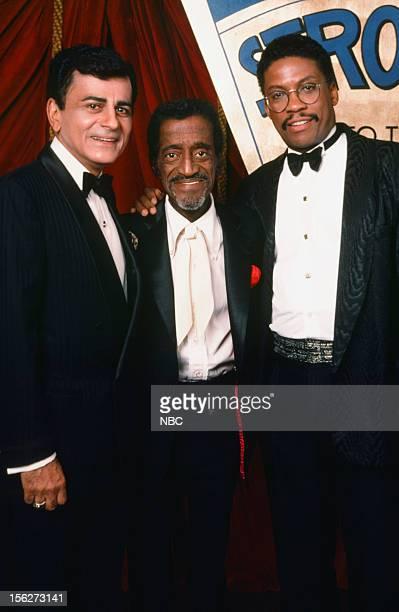 Special award winner disc jockey Casey Kasem Hall of Fame winner Sammy Davis Jr jazz musician Herbie Hancock during the 22nd NAACp Image Awards held...