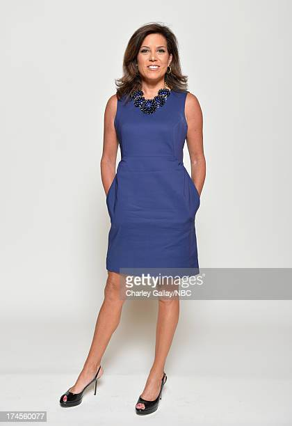 Pictured Sportscaster Michele Tafoya poses for a portrait during NBC 2013 Summer Press Tour at The Beverly Hilton Hotel on July 27 2013 in Beverly...