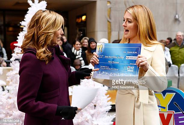 Stephanie Abrams and Cat Deeley appear on NBC News' Today show