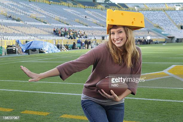 Stephanie Abrams from Lambeau Field in Green Bay WI as part of NBCUniversal's NFL Kick Off