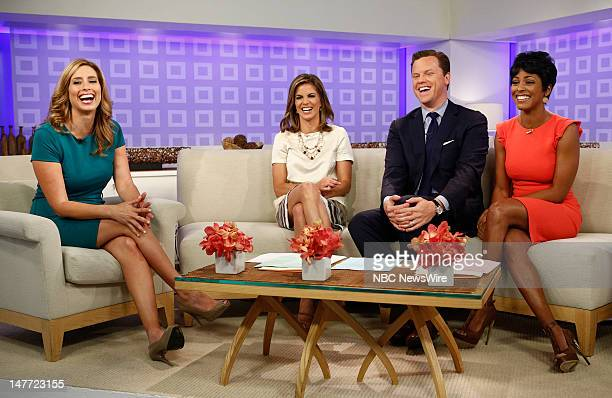 Stephanie Abrams Natalie Morales Willie Geist and Tamron Hall appear on NBC News' Today show