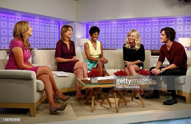 Stephanie Abrams Savannah Guthrie Tamron Hall Julianne Hough and Diego Boneta appear on NBC News' Today show