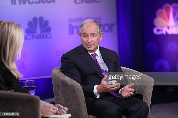 Stephen A Schwarzman Chairman Chief Executive Officer and CoFounder Blackstone during his keynote at the 6th annual CNBC Institutional Investor...