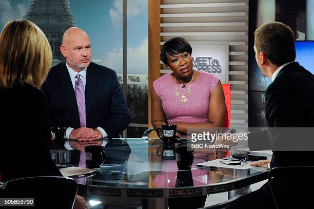 "Pictured: – Steve Schmidt, Republican Strategist, Joy-Ann Reid, MSNBC Correspondent; Author, ""Fracture: Barack Obama, the Clintons and the Racial..."
