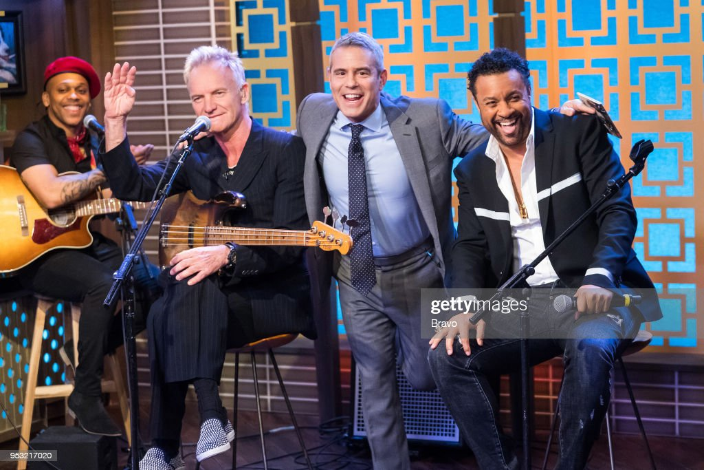 Sting, Andy Cohen and Shaggy --