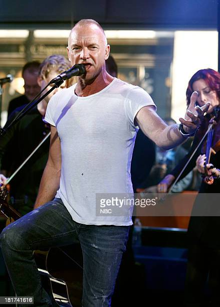 """Sting appears on NBC News' """"Today"""" show --"""