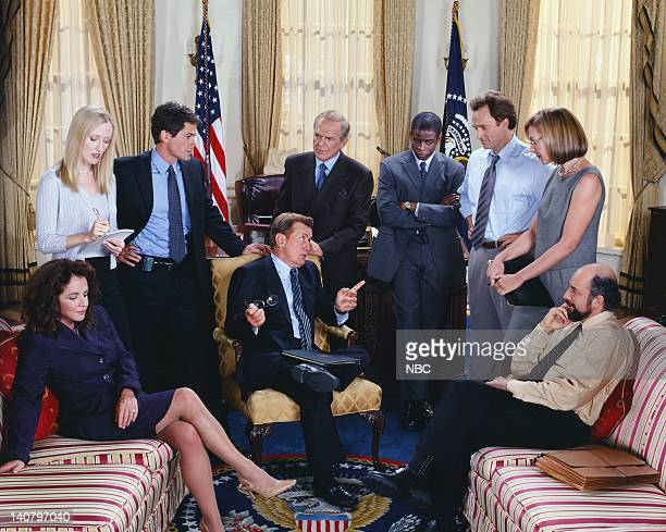 Stockard Channing as Abbey Bartlet Janel Moloney as Donna Moss Rob Lowe as Sam Seaborn Martin Sheen as President Josiah 'Jed' Bartlet John Spencer as...