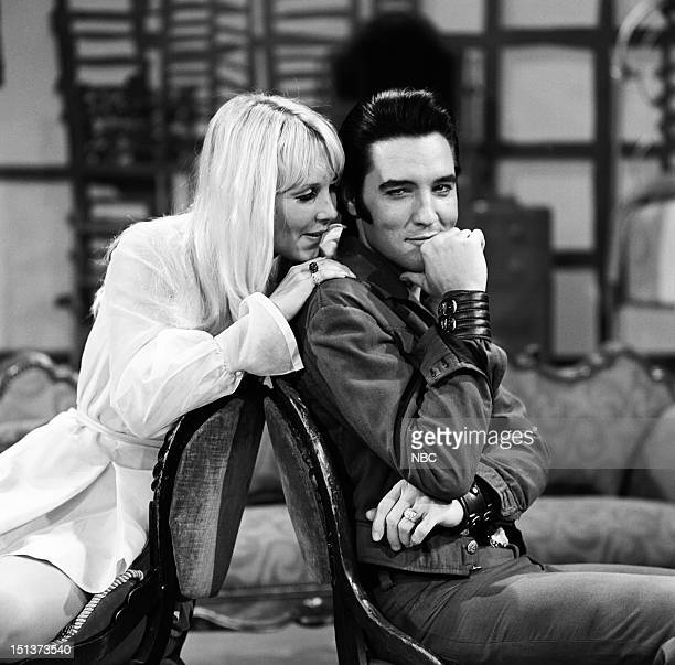 '68 COMEBACK SPECIAL Pictured Susan Henning as Blonde Girl Elvis Presley during his '68 Comeback Special on NBC