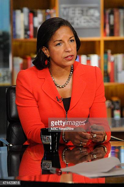 Susan Rice National Security Adviser appears on Meet the Press in Washington DC Sunday Feb 23 2014