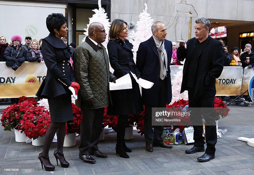 Tamron Hall, Al Roker, Savannah Guthrie, Matt Lauer and Ray Liotta appear on NBC News' 'Today' show --