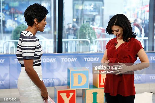 Tamron Hall and Hilaria Baldwin appear on NBC News' 'Today' show