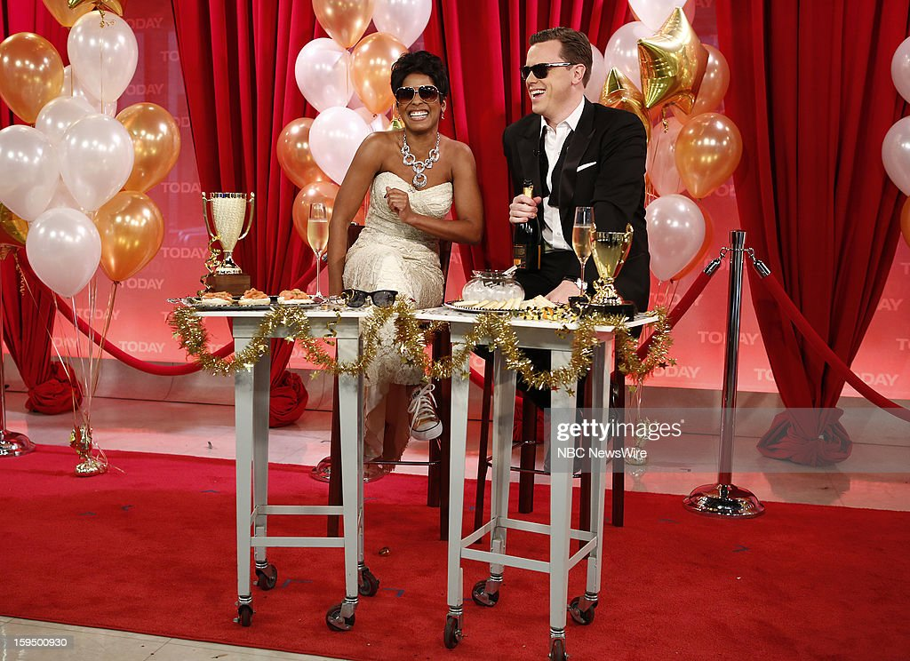 Tamron Hall and Willie Geist appear on NBC News' 'Today' show --