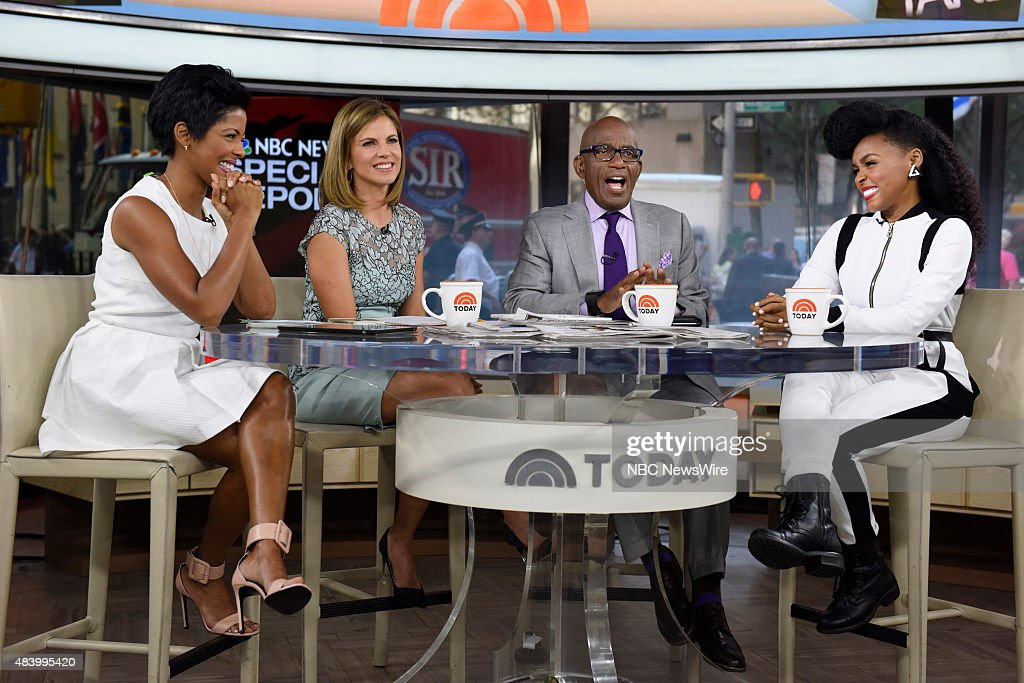 Tamron Hall, Natalie Morales, Al Roker and Janelle Monae appear on NBC News' 'Today' show --