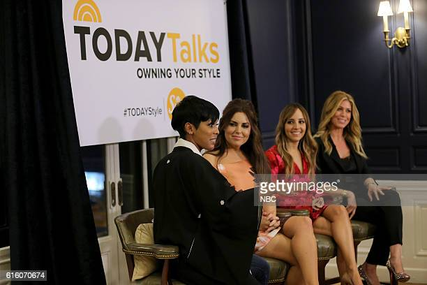 Pictured: Tamron Hall, TODAY host, Bobbie Thomas, Lilliana Vazquez and Jill Maritn, TODAY style squad on Thursday, October 20, 2016 --