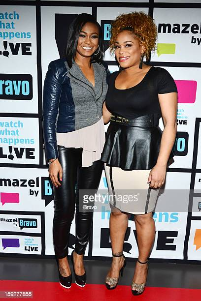 Tatyana Ali and Tionne 'TBoz' Watkins Photo by Charles Sykes/Bravo/NBCU Photo Bank via Getty Images