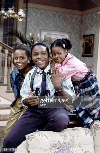 Pictured: Tempestt Bledsoe as Vanessa Huxtable, Malcolm-Jamal Warner as Theodore 'Theo' Huxtable, Keshia Knight Pulliam as Rudy Huxtable