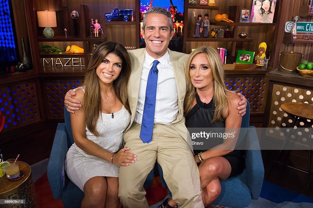 Teresa Giudice, Andy Cohen and Sonja Morgan --