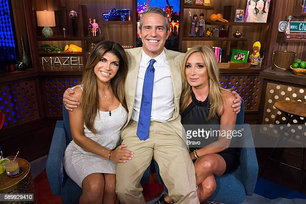 Teresa Giudice Andy Cohen and Sonja Morgan