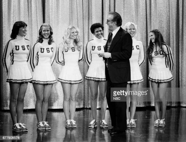 The 1976 cheerleaders from the University of Southern California after a performance with Guest Host Steve Allen on December 27th 1976