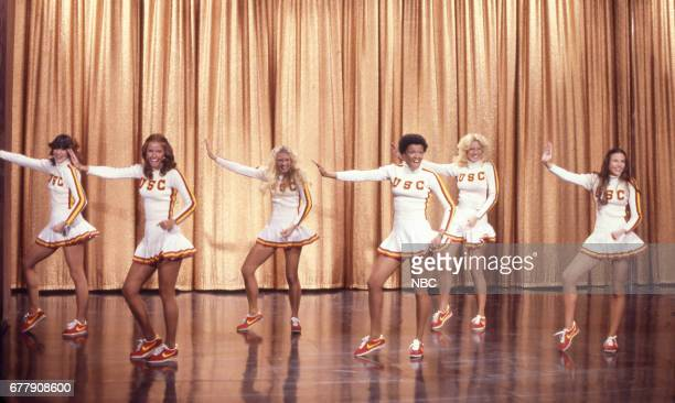 The 1976 cheerleaders from the University of Southern California performing on December 27th 1976