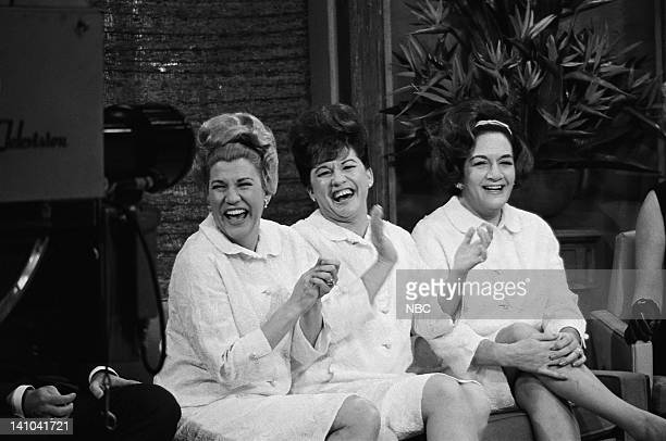 The Andrews Sisters Patty Andrews Maxene Andrews LaVerne Andrews on February 1 1965 Photo by NBC/NBCU Photo Bank