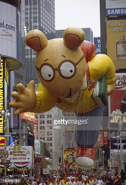 Pictured: The Arthur balloon during the 1999 Macy's Thanksgiving Day Parade -- Photo by: Craig Blankenhorn/NBCU Photo Bank