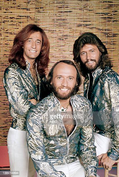 Pictured: The Bee Gees: Robin Gibb, Maurice Gibb, Barry Gibb