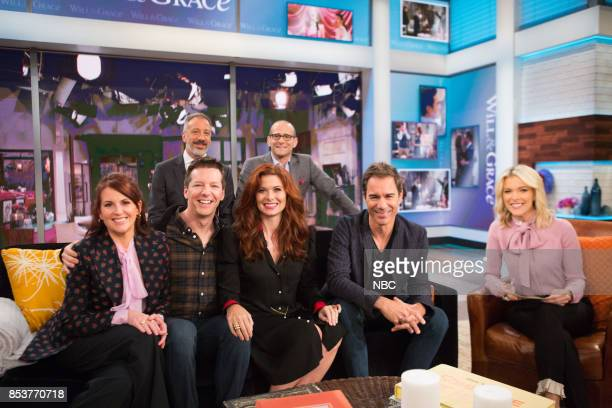 The cast of Will Grace Creators David Kohan Max Mutchnick Megan Mullally Sean Hayes Debra Messing Eric McCormack talk with Megyn Kelly on Monday...