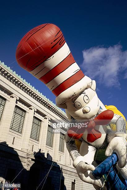 The Cat in the Hat balloon during the 1997 Macy's Thanksgiving Day Parade Photo by NBCU Photo Bank