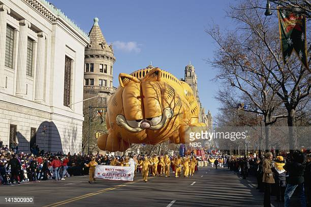 The Garfield balloon during the 1997 Macy's Thanksgiving Day Parade Photo by NBCU Photo Bank