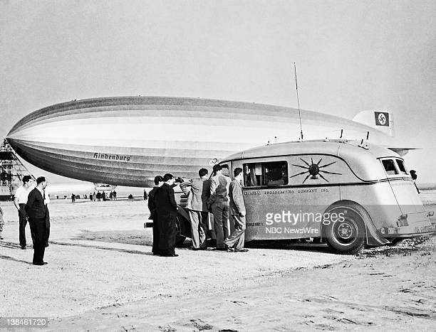 The Hindenburg Zeppelin arrives in Lakehurst NJ on May 6 1937