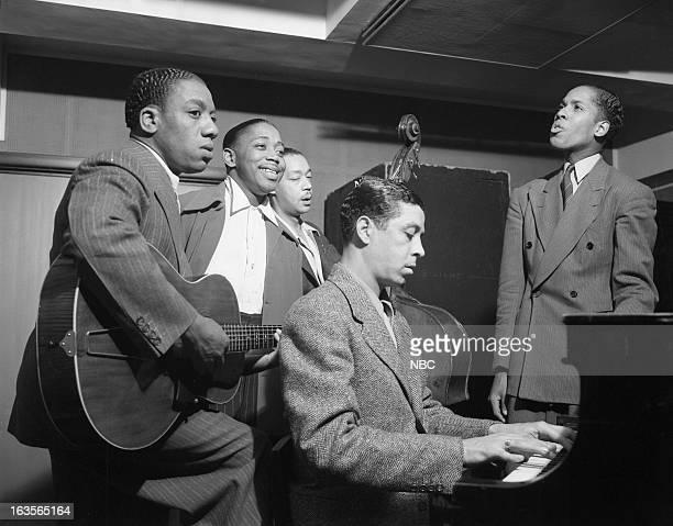 The Ink Spots Guitarist Charlie Fuqua Ivory 'Deek' Watson cellist Orville 'Hoppy' Jones pianist/arranger Bob Benson Bill Kenny in 1939