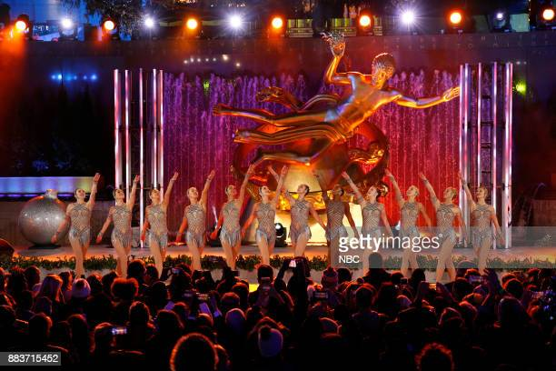 The Rockettes perform during the 2017 Christmas In Rockefeller Center