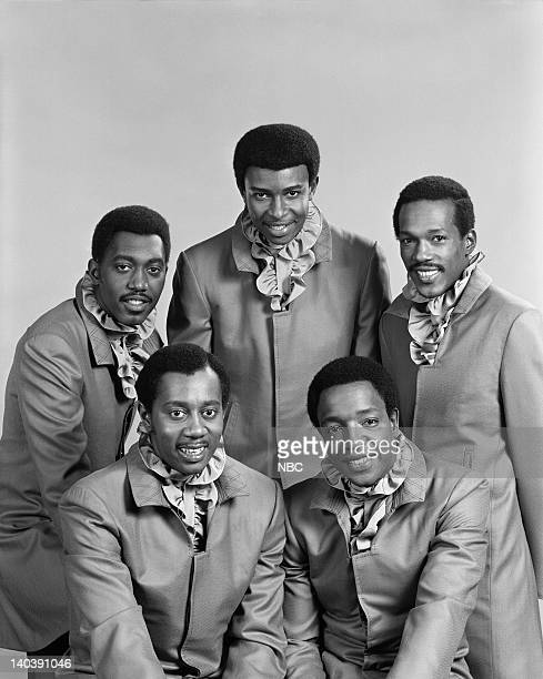 The Temptations: Otis Williams, Dennis Edwards, Eddie Kendricks Melvin Franklin, Paul Williams -- Photo by: Paul W. Bailey/NBCU Photo Bank
