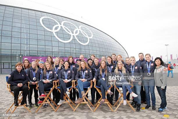 The United States Women's Hockey Team from the 2014 Olympics in Socci