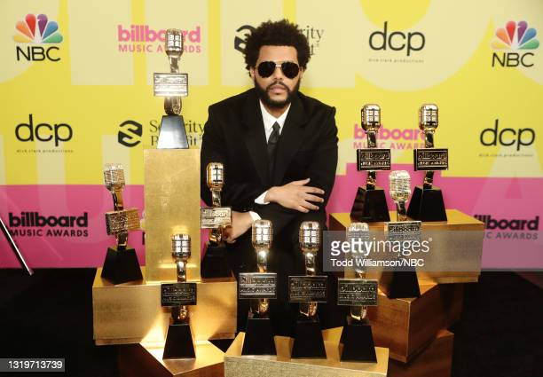 Pictured: The Weeknd, winner of Top Artist, Top Male Artist, Top Hot 100 Artist, Top Radio Songs Artist, Top R&B Artist, Top R&B Male Artist, Top R&B...