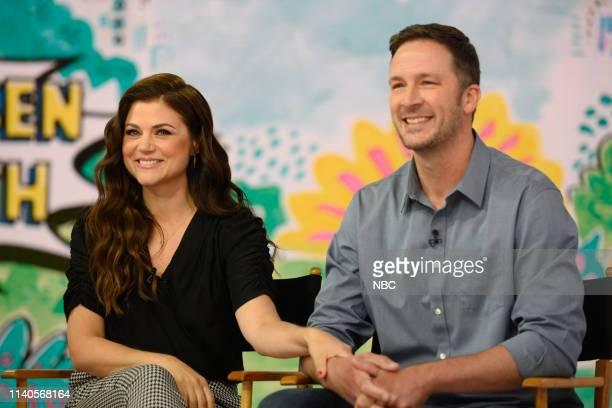 Tiffani Thiessen and husband Brady Smith on Tuesday April 30 2019