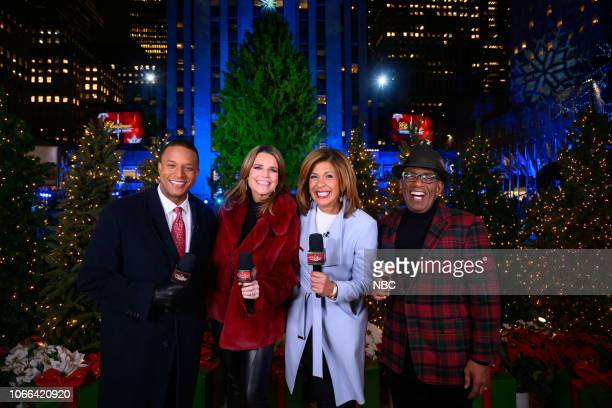 Pictured: Today and NBC news anchor Craig Melvin, Today co-hosts Savannah Guthrie, Hoda Kotb, Al Roker host the 2018 Christmas in Rockefeller Center...
