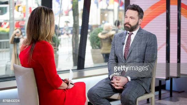 TODAY host Savannah Guthrie talks with actor Ben Affleck on Thursday Nov16 2017