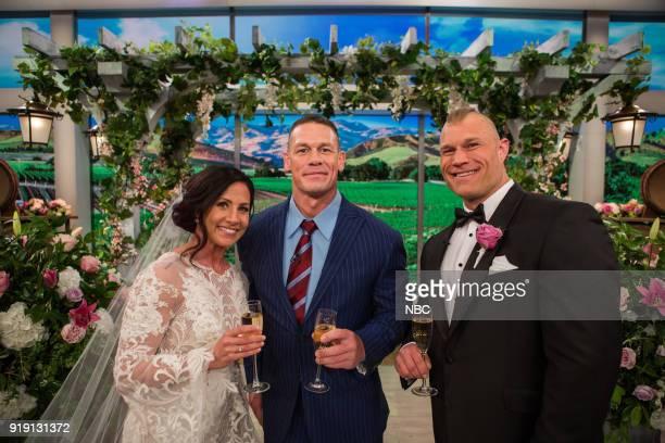 Today Wedding bride Kyle Otte John Cena and groom Jordan Taylor on February 7 2018