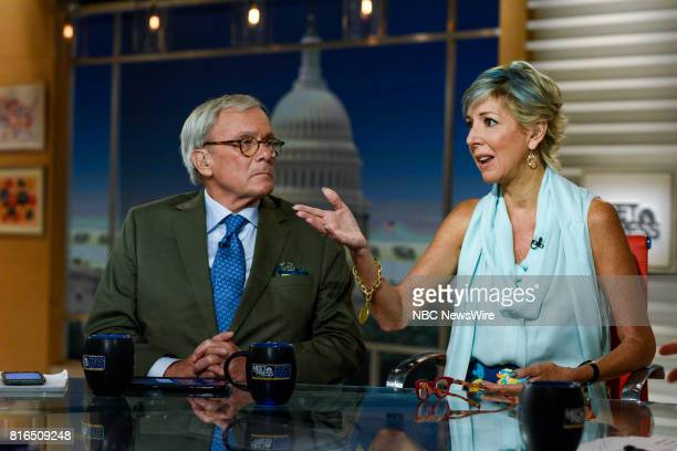 Tom Brokaw NBC News Special Correspondent and Danielle Pletka SVP Foreign and Defense Policy Studies at the American Enterprise Institute appear on...